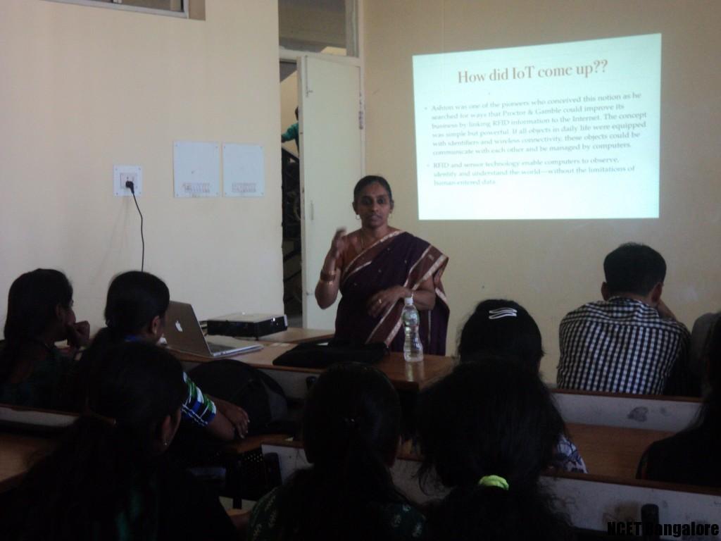Dr. Geetha Prakash, Dean(IIT), delivering a talk on IoT
